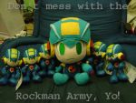 Ph33r the Rockman Army by ayabrea