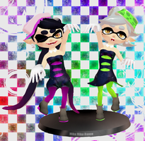 Callie and Marie MMD Figures - Stay Fresh by AsukaRose