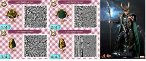 Loki Battle Armor QR Codes Animal Crossing by DeathstrokeTheMerc