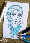 ~Elsa~ Doodle by TheLittleArtyThing