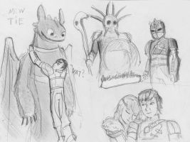 How To Train Your Dragon sketches (2) by spaceMAXmarine