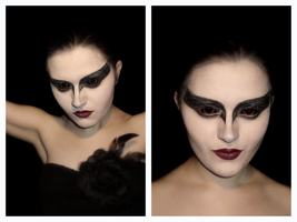 Make-up transformation: Black Swan by L-Justine