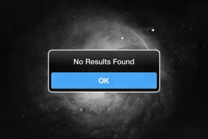 NO RESULTS FOUND by axcy