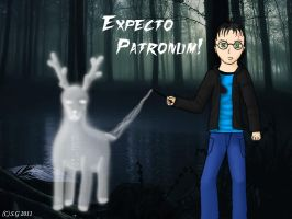 EXPECTO PATRONUM- Harry+Prongs by SaxGirl92