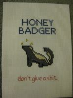 Honey Badger by princessmoodypants