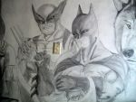 batman wolverine on the wall 2 by MICK66650