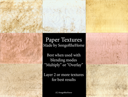 Free Paper Textures by SongoftheHorse
