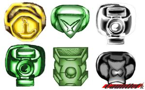 Green Lantern Rings by Gauntlet101010