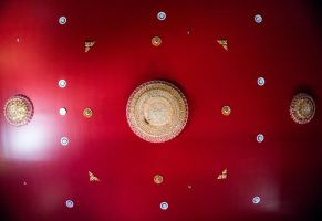 Red Ceiling by bowtiephotography