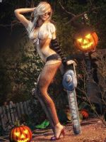 Halloween Pin-Up by LaMuserie