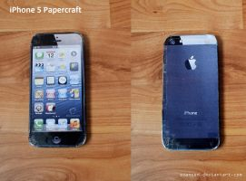 iPhone 5 Papercraft + DOWNLOAD by svanced