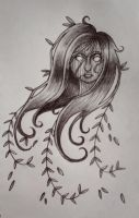 Weeping Willow - pencil by starbuxx