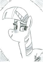 Twilight Sparkle - Paper Drawing. by MrDynasty