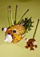Pineapple Fish, Kiwi Mouse by xflorian