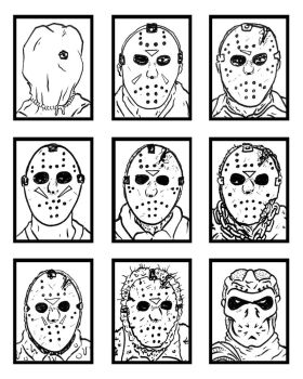 THE MANY FACES OF JASON VORHEES by sedani