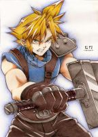 Cloud Strife Fanart by Hika-unik
