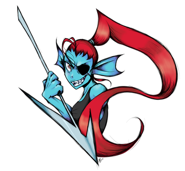 Undertale - Undyne by BubblesRRJ