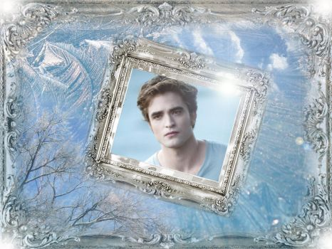 Edward Wallpaper Framed Ice by TheSearchingEyes