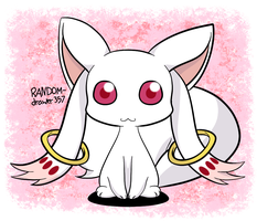 Chibi Kyubey by RANDOM-drawer357