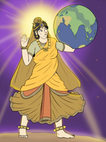 Maa Prithvi - The Mother Earth by VachalenXEON