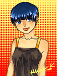 Short-haired girl by HonG-t