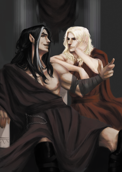 Mairon and Melkor by FlyWo