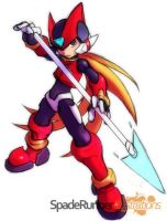 Megaman Zero - Spear by Cinos-Hedgean