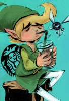 The Legend Of Zelda: Starbucks Princess by vincentsdeviantart