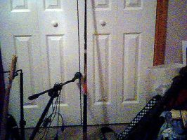 my baby and mic and stuff... by thelcru