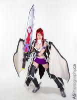 Fairy Tail: Erza Scarlet Black Wing Armor Cosplay by vikkiievoltage