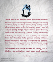 Happy New Year - Neil Gaiman by rationalhub