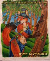 Woodland Fox work in progress by lady-cybercat