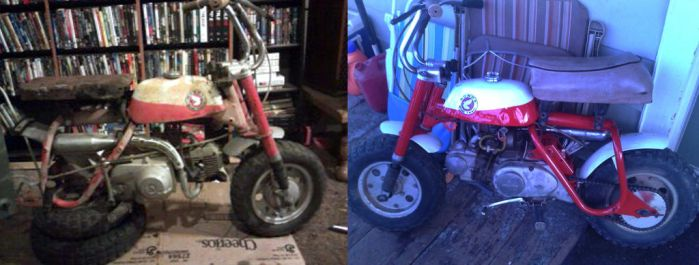 69 Honda Z50 B4 And After by Voltonwarsled