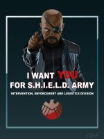 Recruitment poster S.H.I.E.L.D. by Guidux92