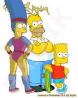 The Simpsons Redraw No.2 by bajzik