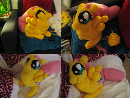 fluttershy plushie progress 6 by mirry92