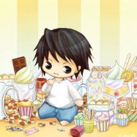::Death Note::L in Snackland:: by kuryuki