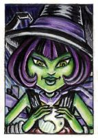ACEO - MH:CAM Witch by JRtheMonsterboy