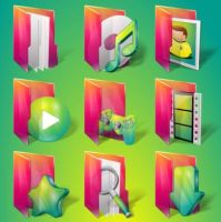 Aurora Folders by IconTexto