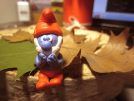 Papa Smurfs Fimo by MaryZho