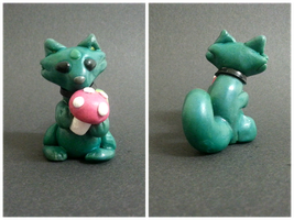 Pink Mushroom Wolf (sculpt) by WolvesnRavens