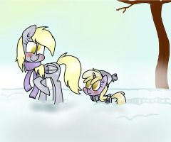 winter snow by mariatamayothewierdo