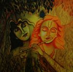abstract radha and krishna by capricorn-kid