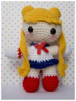sailor moon amigurumi 9 inch by pirateluv