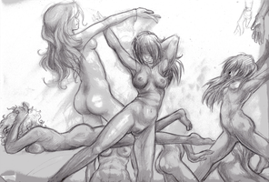Nude Women Sketch by DemonTainted