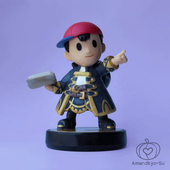 Ness with Robin's Robe Custom Amiibo by Amandkyo-Su