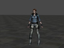 RE5 Jill BSAA Ingame Bones custom no cap by ItalianUtent