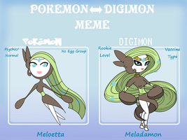 Pokemon-Digimon Meme Meloetta