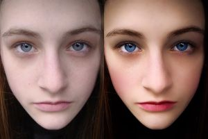 Retouch - Before and after, Sept 2014 by CouchyCreature