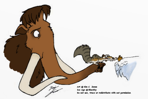 Manny and Scrat by Slasher12